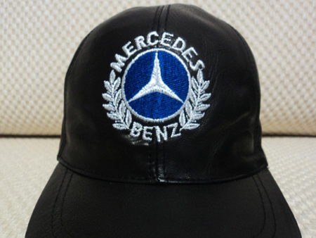 Mercedes Leather Black Baseball Hat Cap [BUY 1 GET 1 FREE]